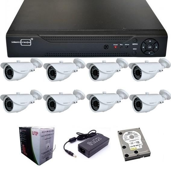 IP kamera rendszer 8 kamera